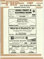 Title Page, Mahaska County 1987